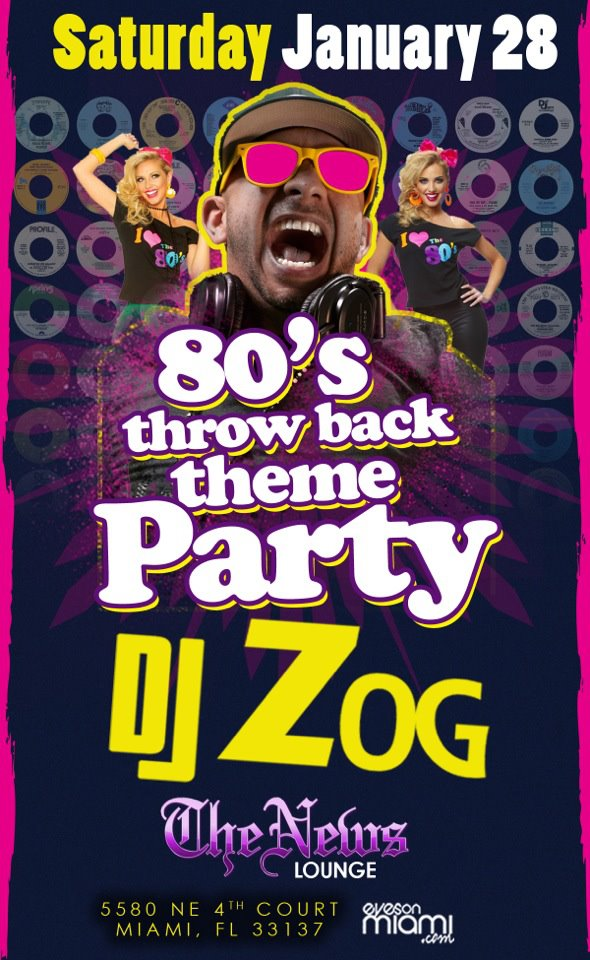 Jan 28th, 2012 – 80's Throwback theme party at News Lounge
