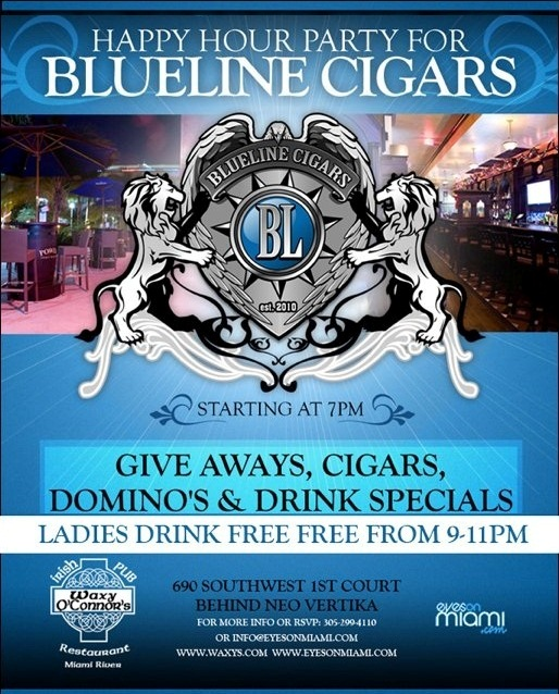 Feb 10th, 2012 – Ladies Night at Waxy's on the River hosted by Blue Line Cigars