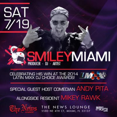 7-19 News Lounge Smiley Miami