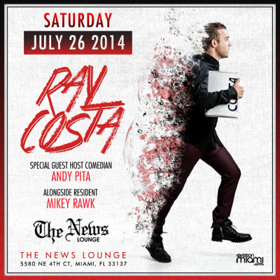 7-26-14 Ray Costa at The News Lounge