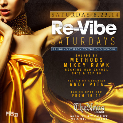 Re-Vibe Saturdays at The News Lounge